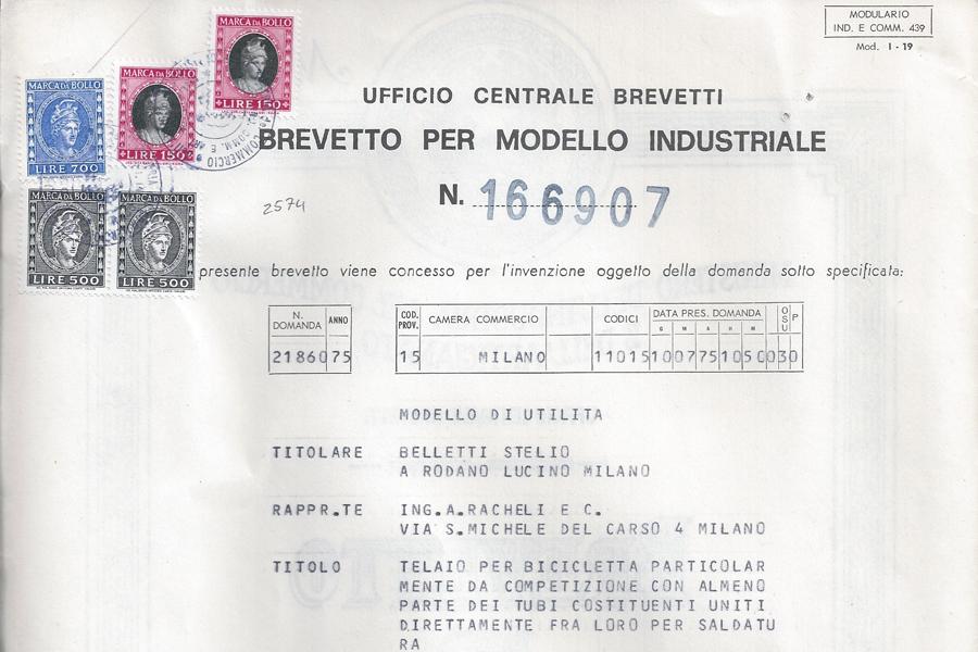 Brevetto Stelbel 166907